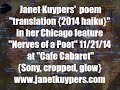 "20141121 Janet Kuypers' haiku poem ""Translation (2014 haiku)"" at Cafe Cabaret feature S crop gl"