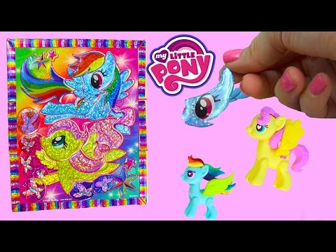My Little Pony Rainbow Dash Sticker By Number Crystal Masterpiece Puzzle Fluttershy MLP Fun