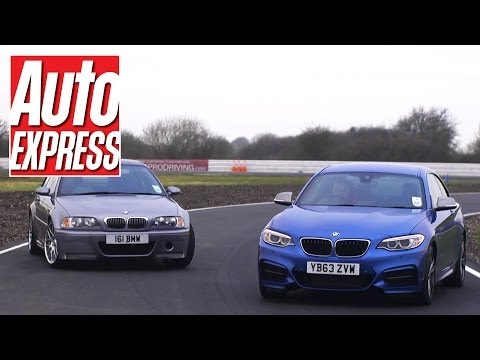 BMW M235i vs BMW M3 CSL on track