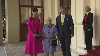 Queen attends formal farewell to King Willem-Alexander and Queen Máxima of the Netherlands