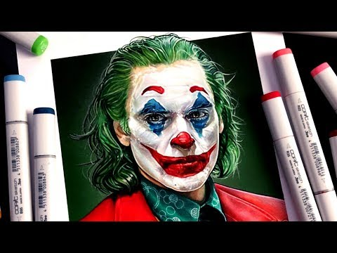 Drawing JOKER with Copic Markers - Joaquin Phoenix