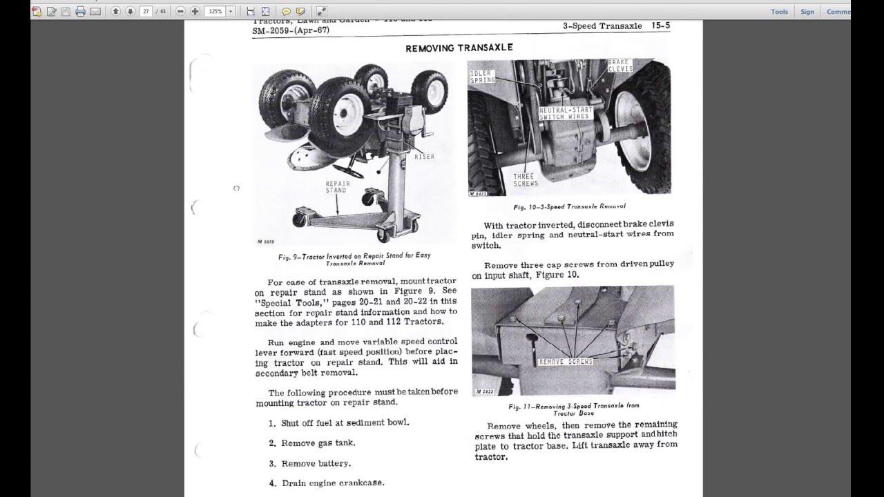 John Deere 110    112 Mower Garden Tractor Cutaway