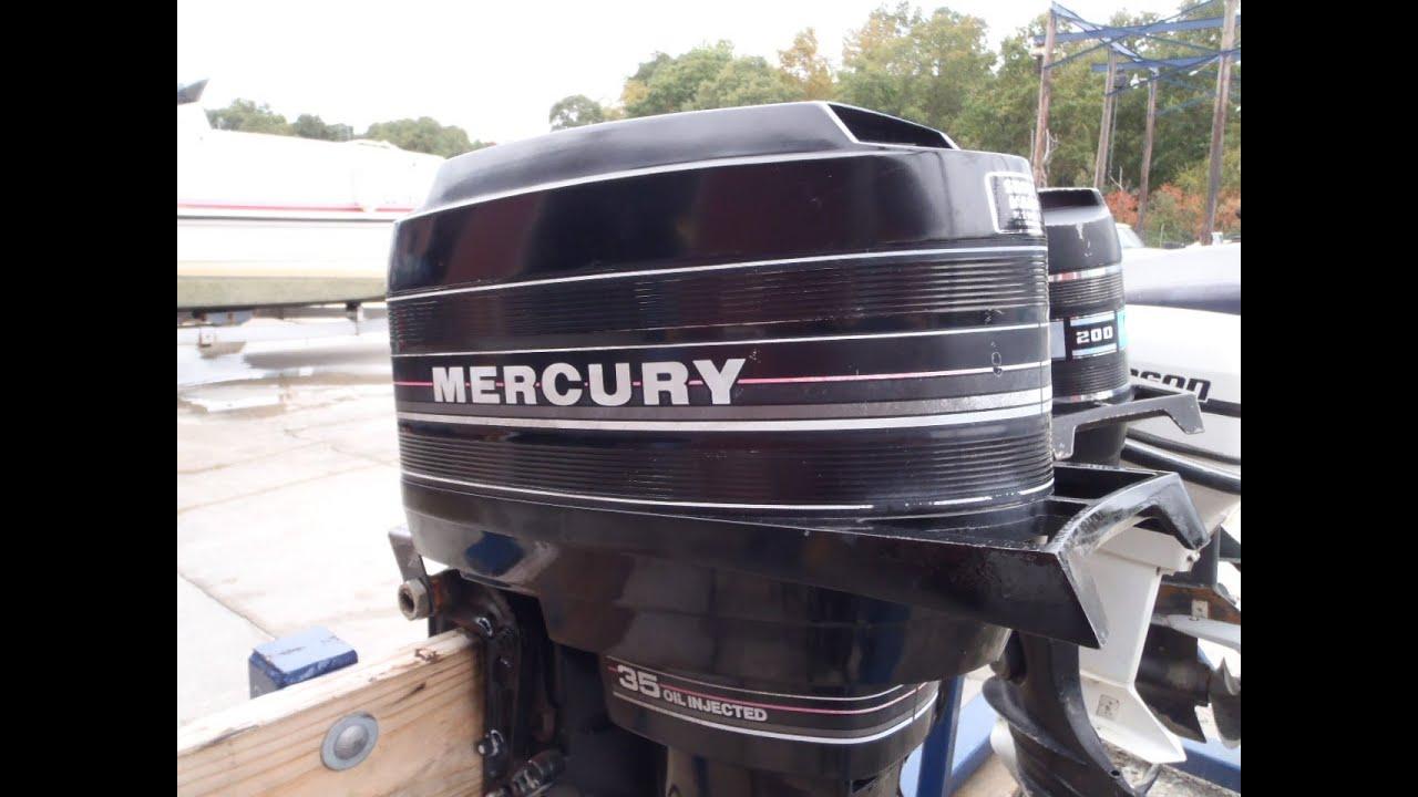 6m3b99a Used 1987 Mercury 35e 35hp 2 Stroke Remote