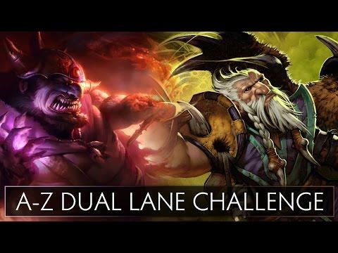 Dota 2 A-Z Dual Lane Challenge - Lion and Lone Druid