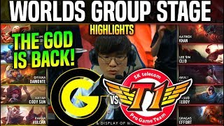 CG vs SKT Highlights *THE GOD IS BACK!* Worlds 2019 Group Stage Day 4 - CG vs SKT T1 Highlights
