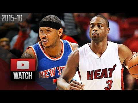 Dwyane Wade vs Carmelo Anthony DUEL Highlights (2016.01.06) Heat vs Knicks - SICK!