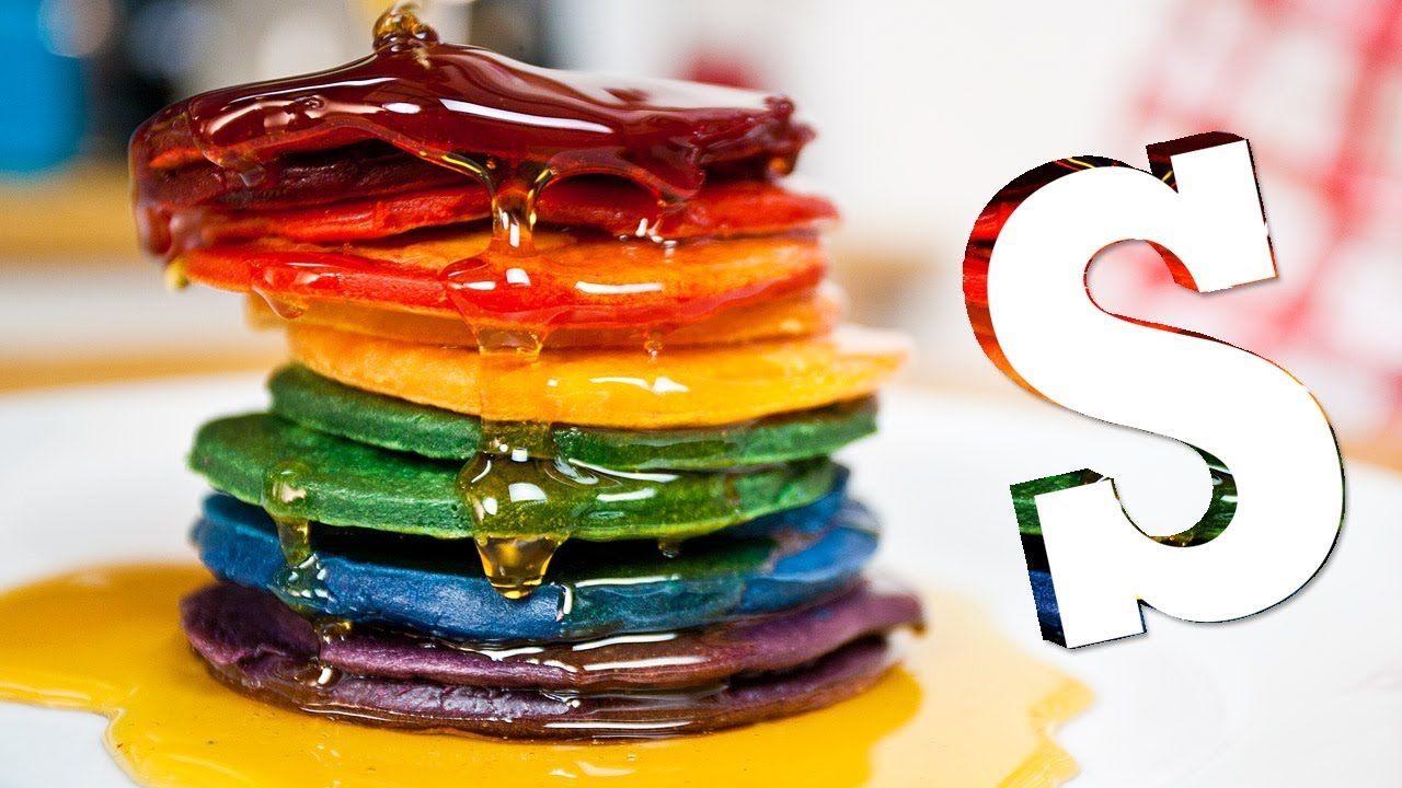 cupcakes de rainbow pancakes from i am double rainbow pancakes