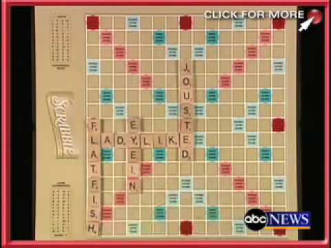 record-setting Scrabble game