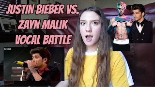 Zayn Malik Vs Justin Bieber Vocal Battle Reaction