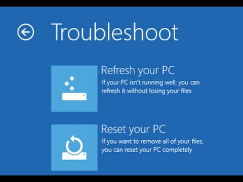 Windows 8 F8 key get advance options. How to Reload Toshiba windows 8 Reset Windows 8 Password