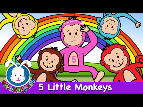 Five Little Monkeys Jumping on the Bed - Nursery Rhymes