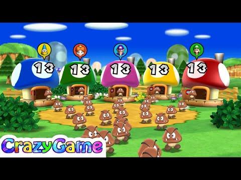 Mario Party 9 Step It Up #28 Waluigi vs Daisy vs Luigi vs Kamek Gameplay (Free for All Minigames)