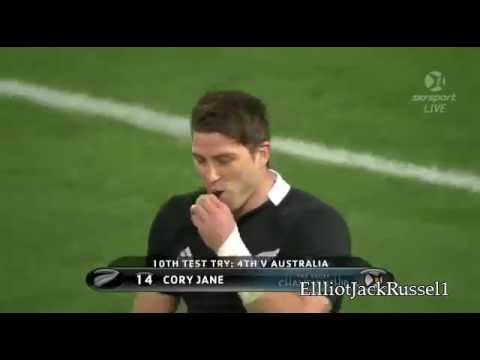 Cory Jane's try vs the Wallabies |  Rugby Championship Match Highlights 2012