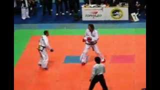 TKD ITF. Team Sparring (male). Russia vs Argentina. 3d fight