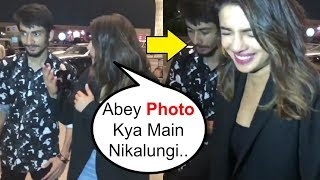 Priyanka Chopra Laughs On Fans STUPID Behaviour At Mumbai Airport