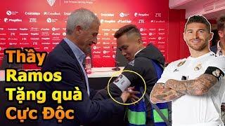 Đỗ Kim Phúc nhận quà xịn từ Thầy Sergio Ramos khi đi xem trận bóng đá siêu kinh điển tại Sevilla