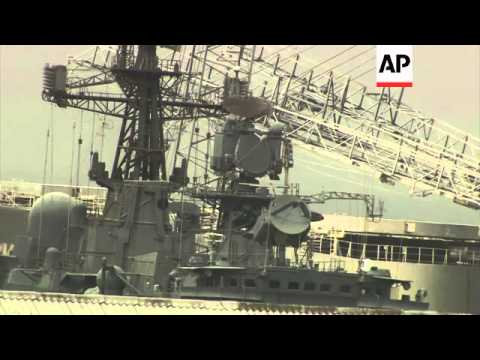 Three Russian warships to stay in Lebanese waters for 3 days before going to Syria - 2013