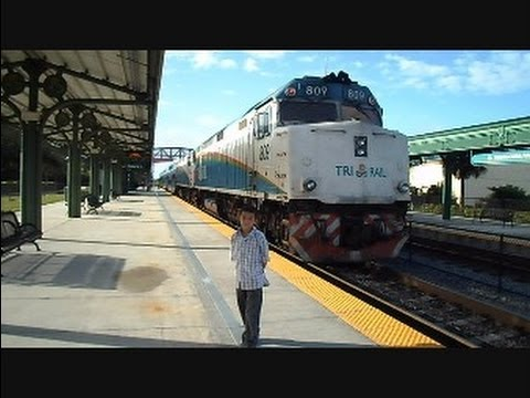 Tri Rail Train Ride West Palm Beach Florida