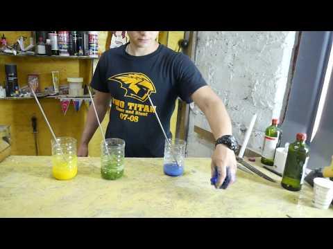 Как сделать Разноцветные лизуны из пенопласта - DIY Пенопласт растворяем в ацетоне