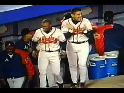 """Atlanta Braves"" ""Rafael Belliard"" 1st Home Run In Ten Years!"