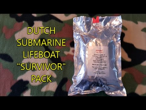 DUTCH SUBMARINE LIFEBOAT SURVIVOR PACK