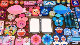 Special Series #23 DORAEMON and MICKEY MOUSE PINK vs BLUE  Mixing Random Things into Glossy Slime!