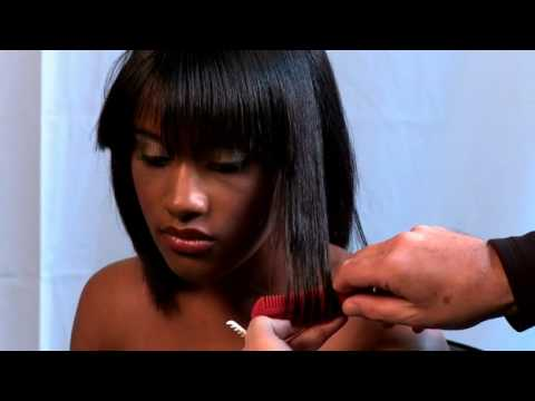 Razor Cut Haircut  using the Paul Mitchell Carving Comb and  Twist Razor created by Donald Scott