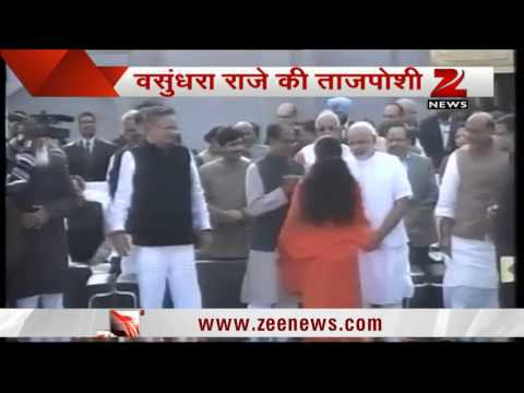Vasundhara Raje takes oath as Rajasthan Chief Minister