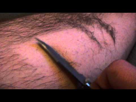 Razor sharp knife shaving