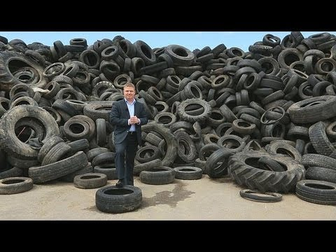 Neumáticos reciclados para construir muros - business planet