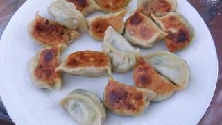 panfried Dumplings/煎饺/how to make chinese chives dumplings