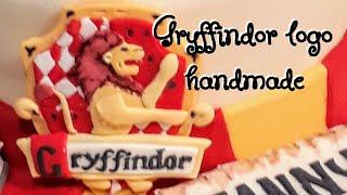 Gryffindor - harry potter cake fondant handmade decoration