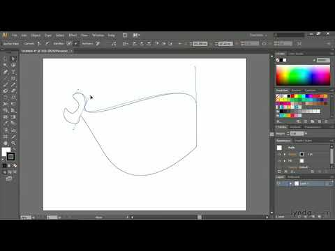 Illustrator Cc Tutorial: Drawing Simple Curves | Lynda video