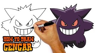 Download How to Draw Gengar | Pokemon 3Gp Mp4