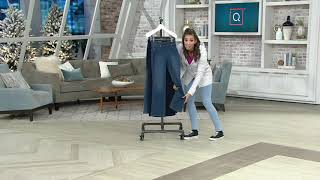 Denim & Co. Pull-On 5-Pocket Lightly Boot-Cut Jeans on QVC