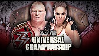 FULL MATCH - Ronda Rousey vs. Brock Lesnar - WWE Universal Championship Match: Survivor Series 2018
