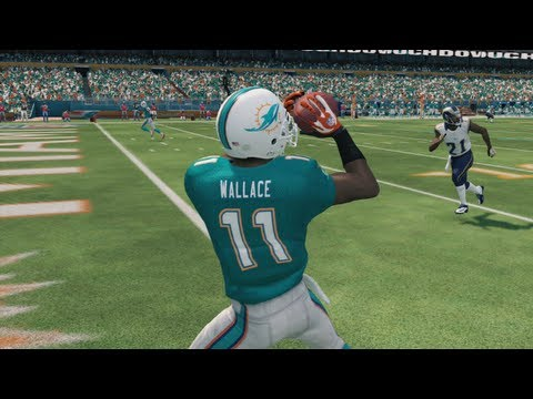 Madden 25 Online Gameplay - New Dolphin Mike Wallace Proves He's More Than a Downfield Threat