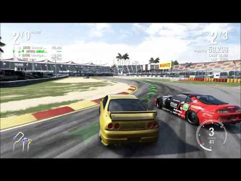 Watch Forza motorsport 4 | Online drifting with the R33 | Fanatec GT2 Steering wheel
