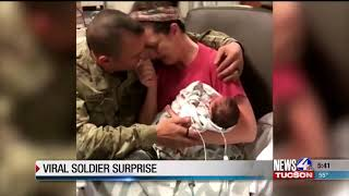 Soldier's homecoming goes viral
