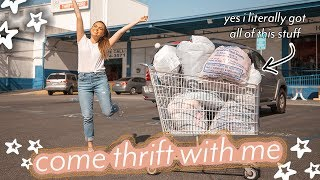 THRIFT WITH ME AT THE LARGEST THRIFT STORE IN LA ♡