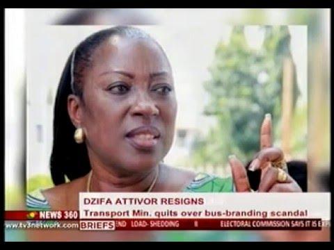 News360 - Transport minister Dzifa Attivor resigns - 23/12/2015