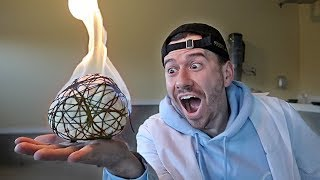 IMPOSSIBLE TRICK - HOW TO MAKE A FIREBALL YOU CAN HOLD EXPERIMENT!!