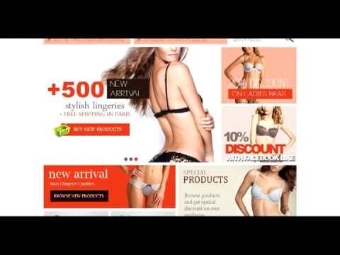 Lingerie, Bras And Panties Store Prestashop Themes   Stylish Lingerie
