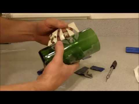 How to cut a glass bottle with a home made cutter etch for How to cut a beer bottle at home