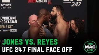 Jon Jones vs. Dominick Reyes Final Face Off and Last Words | UFC 247 Ceremonial Weigh-Ins