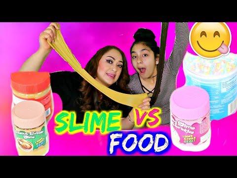 Slime Vs Real Food!!! B2cutecupcakes