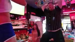 Burger Planet Pole Dances on Stage at go go bar