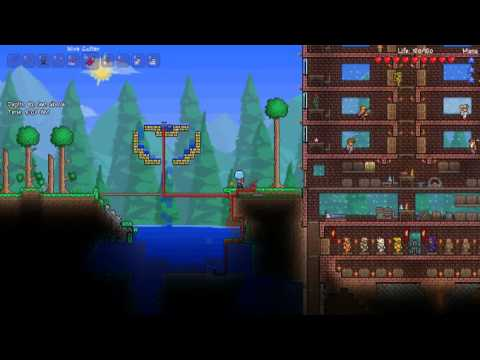 Terraria 1 1 Inlet Outlet Pump Water Duplication Youtube