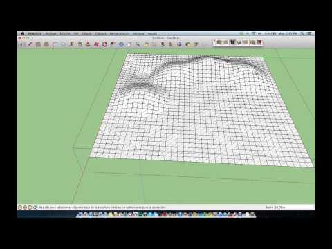 Como usar la herramienta esculpir en Google Sketchup