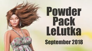 Powder Pack LeLutka September 2018 - Unboxing Video - Second Life Subscription Box